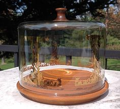 Vintage Glass Pyrex Cheese Dome Cloche