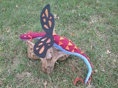 Victor LeFey DragonSown Fabric Plush Dragon Handmade by DragonSown