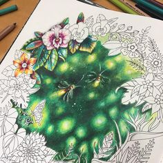 "220 Likes, 11 Comments - EliFederzoni (@eli_federzoni) on Instagram: ""#magicaljungle #magicaljunglecoloringbook #coloringbook"""