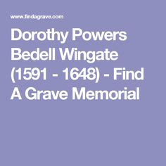 Dorothy Powers Bedell Wingate 1591