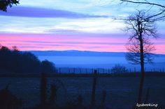 coucher de soleil sur mont du forez