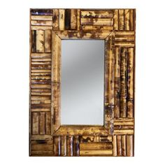 Would make a lovely addition to your chippendale collection. Bamboo Mirror, Diy Mirror, Mirror Work, Bamboo Crafts, Wood Crafts, Asian Bathroom, Flat Shapes, Mirrored Furniture, Handmade Home Decor