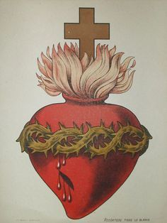 Vintage illustration of the Sacred Heart