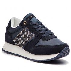Sneakers TOMMY HILFIGER - Sparkle Satin City Sneaker FW0FW03991 Midnight 403 Adidas Sneakers, Model, Sparkle, Satin, Shoes, Fashion, Tennis, Moda, Zapatos