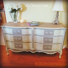 paint french provincial dresser | French Provincial Dresser or Sideboard by LeChienDeCreme on Etsy