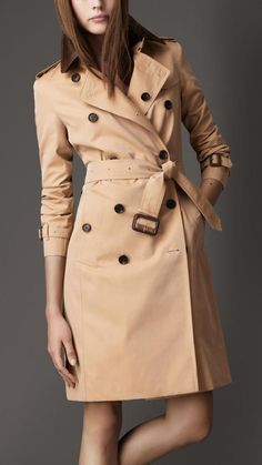 Leather Collar Trench Coat $1 thestylecure.com
