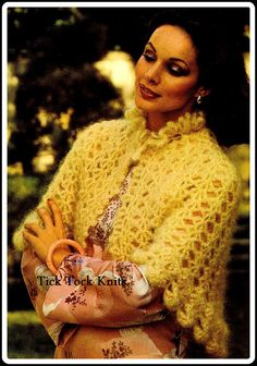 No.315 Crochet Capelet Pattern 1970's Vintage PDF - Women's Ruffle Collar Capelet - Retro Crochet Pattern - Instant Download