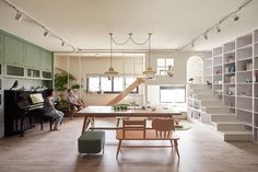 Slide, bunked, swing, bookcase. The Family Playground by HAO Design