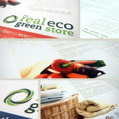 Category: Logo/branding identity Design, Stationery, leaflet design and display graphics, Co. Client: The Real Eco Green Store Brand Identity Design, Logo Design, Leaflet Design, Eco Green, Logo Branding, Print Design, Ireland, Stationery, Graphics