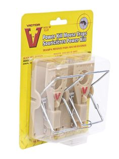 Victor Mouse Trap Power Kill Pest Control Pack x 2 Mouse Traps, Pest Control, Office Supplies, Packing, Bottle, Diy, Furniture, Bag Packaging, Bricolage