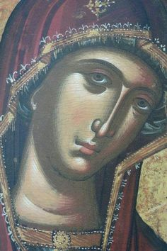 Byzantine Icons, Byzantine Art, Religious Icons, Religious Art, Our Lady Of Lourdes, Face Icon, Russian Icons, Religious Paintings, Orthodox Icons
