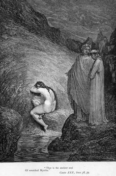 The Inferno, Canto 30 - Gustave Dore Gustave Dore, Dante Alighieri, The Divine Comedy, Illustration, Unusual Art, Classical Art, Wood Engraving, Old Art, Paris