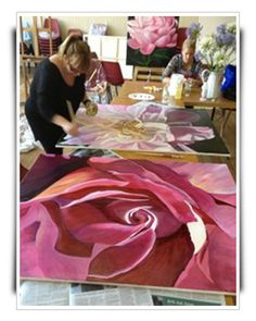 Make money from art, acrylic painting, flower painting, inspiration, art lessons, freedom to paint