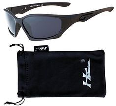 a4ac044bc71 HZ Series Pro Premium Polarized Sunglasses by Hornz Matte Black Frame Dark  Smoke Lens