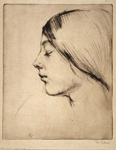 'Fidelma', by Paul Cadmus.  1904-1999     Drypoint.