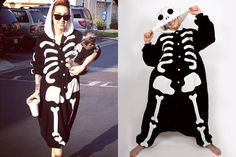 Ash Costello: Skeleton Onesie Pajamas