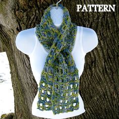 Crochet Scarf Patterns Using Q Hook : 1000+ images about Crochet Scarf -- Keyhole on Pinterest ...