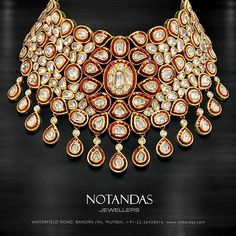 Classic Neckpiece for the wedding of your dreams by @notandas Jewellers! #notandas #jewellers #beautiful #neckpiece #gold #intricate #design #beauty #necklace #photoftheday #exclusivepiece #collection2015 #instaperfect #goldbeauty #instalove #traditional #indian #indianjewellery #bridal #indianbride #weddings #shaadi #instalike #instadaily