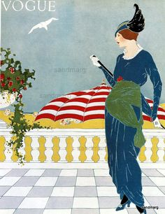 Vintage Vogue 1913 Fashion Illustration Reprint Paul by sandmarg, $10.00