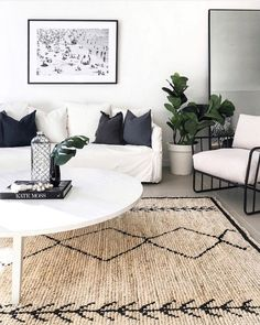 46 Best Carpet Flooring Ideas - Page 24 of 46 - LoveIn Home Rugs In Living Room, Living Room Designs, Home And Living, Living Room Decor, Burlap Rug, Jute Rug, Carpet Flooring, Rugs On Carpet, Tribal Decor