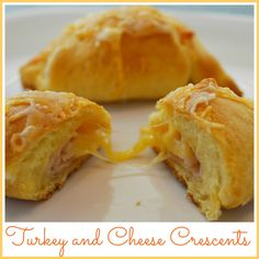 Crescent Roll Recipe: Turkey and Cheese Stuffed Crescents. Easy snack or lunch for kids.