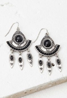 5€Faux Stone Drop Earrings - Womens accessories, jewellery and bags | shop online | Forever 21 - 1000141156 - Forever 21 EU