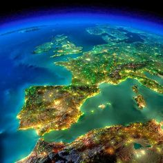 Our beautiful planet by night ♡♥♡♥♡♥♡♥♡