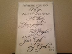 Great wedding gift idea:  Where You Go I'll Go wood sign Christian sign by OneChicShoppe, $30.00