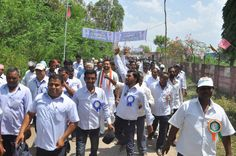 vikram goud in a rally