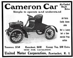 1904 Cameron Automobile Advertisement