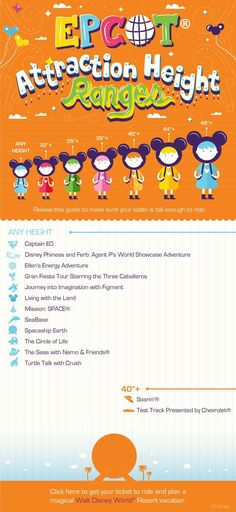 Height Requirements for WDW attractions