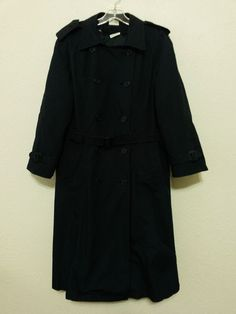 US Military Air Force Women's Lined Trench Coat with Belt - Size 16S - Blue All Weather www.stores.eBay.com/variety-on-a-budget www.amazon.com/shops/Variety-on-a-Budget www.bonanza.com/booths/VarietyonaBudget www.facebook.com/VarietyonaBudgetOnlineShopping