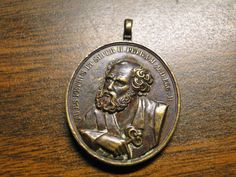 "Scarce St Peter Pendant / Medal - Bronze - 1 X 1 1/2"" - Very Nice! by EagleDen on Etsy"