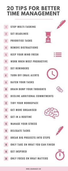 20 Time Management Tips When You Work From Home #homeschoolinginfographic