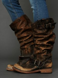 Free People Contra Washed Tall Boot, zł0.00