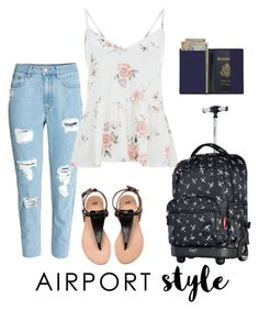 """""""Travel in Style"""" by zahrasayyid on Polyvore featuring H&M, Olympia and Royce Leather"""