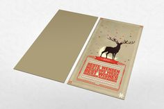 Holiday cards by Jonas Nullens, via Behance