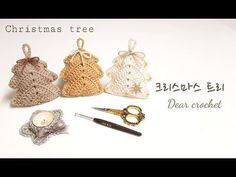 This Crochet Christmas Tree is very easy to make. It will take a couple of hours to make a beautiful decoration for new year. Crochet Tree, Crochet Ripple, Crochet Mouse, Chunky Crochet, Crochet Gifts, Crochet Flowers, Crochet Christmas Decorations, Crochet Christmas Ornaments, Crochet Decoration