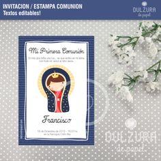 Estampas para Primera Comunión Virgentica de Guadalupe para varones precioso diseño de la Virgen de Guadalupe invitacion minitaarjeta de souvenir y recordatorio