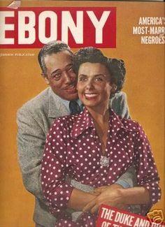 Lena Horne & Duke Ellington on the October 1949 cover of Ebony.