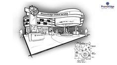 Exhibition Stall Design, Exhibition Display, Exhibition Stands, Web Banner Design, Interior Design Sketches, Sketch Design, Display Design, Stand Design, Exibition Design