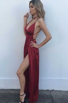 Sexy satin prom dress, ball gown, prom dresses 2017