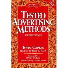 Great great classic book on mail order advertising. Still very relevant today.