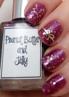Born Pretty gold bow review! And Indie Polish Whimsical Ideas By Pam Peanut Butter and Jelly!