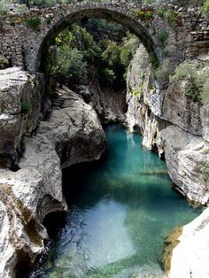 Stone Bridge, Koprulu Canyon Nature Park, Antalya Province, Mediterranean Region, Turkey I share hol Places To Travel, Places To See, Travel Destinations, Canyon Stone, Wonderful Places, Beautiful Places, Turkey Travel, Lake District, Beautiful Landscapes