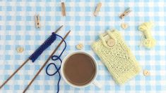 This free phone cozy knitting pattern is a perfect warm weather knitting project, and using MillaMia Naturally Soft Aran it's beautiful as well as function