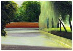 by Lorenzo Mattotti Landscape Sketch, Landscape Drawings, Abstract Landscape, Landscape Paintings, Landscapes, Matte Painting, Light Painting, Lorenzo Mattotti, Pencil Illustration