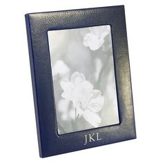Personalized Blue Traditional Leather 5x7 inch Frame