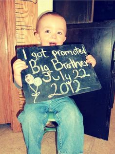 2nd child, such a cute way to announce it