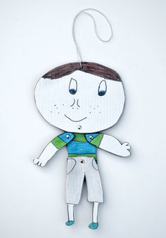 Create a fun puppet - from your kids sketches and cardboard!